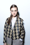Magda Laguinge AT DIESEL ss13 BACKSTAGE NYFW on FashionDailyMag