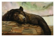 Milan FNO 2012 Henry Cotton Boutique Guardia Campestre Painting by Federico Guida-Part of Name the Bear by Leonardo Rotatori