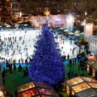 'tis bryant park tree lighting | Skating into the holiday season