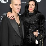 Jeremy Scott (L) and actress Liberty Ross Smart forjeremy Showcar By Jeremy Scott