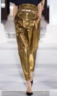 MAISON VIONNET AW13 FashionDailyMag sel gold pants