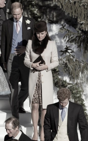 Duke and Duchess of Cambridge and prince william attend wedding in Switzerland