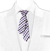 MAISON F checked short tie FashionDailyMag