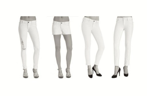 DL 1961 white denim