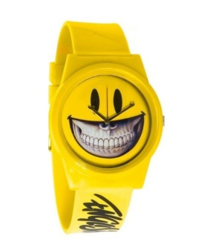 FLUD yellow smiles watch FashionDailyMag