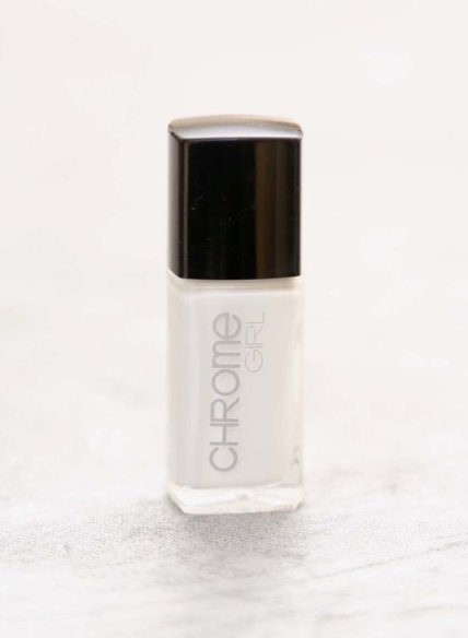 chrome girl WHITE nail polish FashionDailyMag