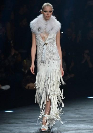 sasha luss ROBERTO CAVALLI FALL 2014 fashiondailymag