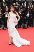 Laetitia Casta in dior couture at cannes film festival | FashionDailyMag