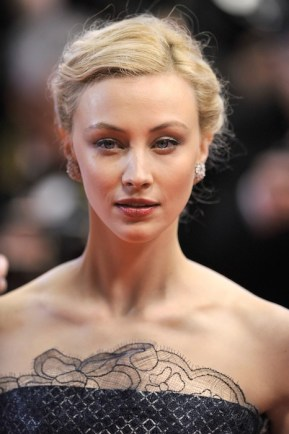 "Sarah Gadon attends the ""Maps To The Stars"" cannes film festival fashiondailymag"