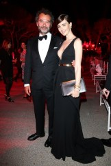 Remo Ruffini and Paz Vega attend the Moncler, The After Party To Benefit amfAR