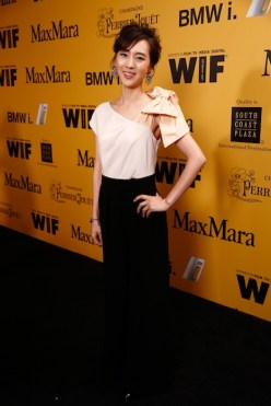Actress Kiki Sugino attends Women In Film 2014 FashionDailyMag