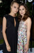 cara delevingne and Keira Knightley Serpentine Summer party FashionDailyMag