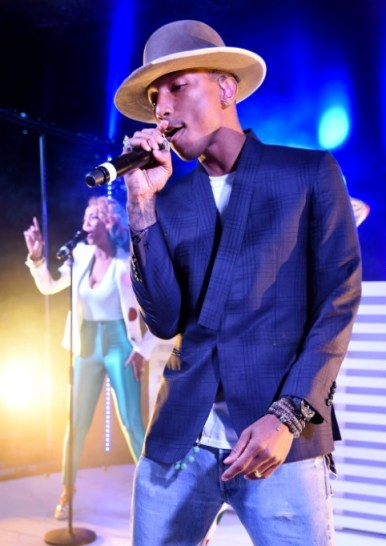 pharrell williams serpentine summer party FashionDailyMag