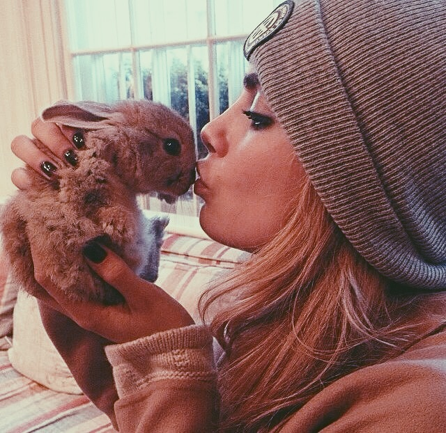 cara delevingne and rabbit animal rescue FashionDailyMag