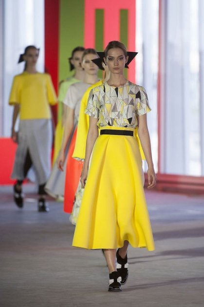 Roksanda Ilincic spring 2014 yellow FashionDailyMag