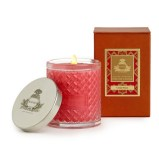 agraria cedar rose woven crystal candle Valentines day
