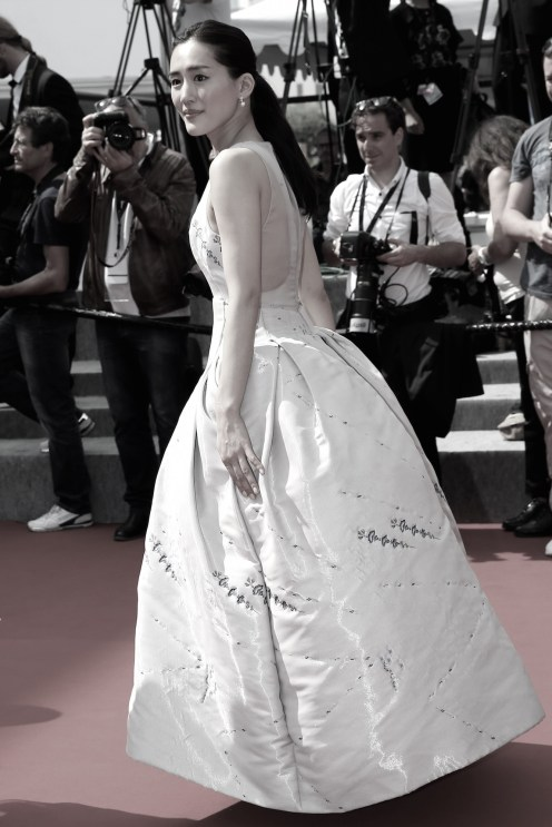 Haruka Ayase cannes wearing dior couture fashiondailymag