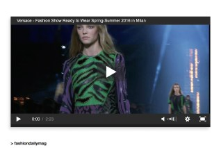 versace ss16 mfw video fashiondailymag