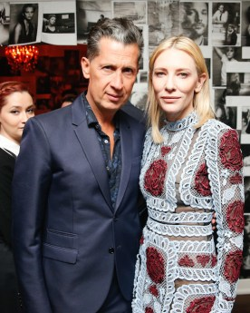 Cate Blanchett with Stefano Tonchi