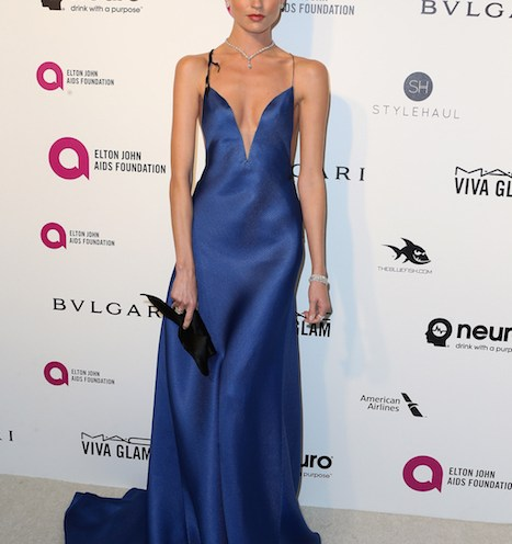 martha hunt at elton john aids foundation oscars party 2