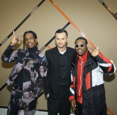 PARIS, FRANCE - JANUARY 21: ASAP Rocky, Chris Van Assche and ASAP Ferg attend the Dior Homme Menswear Fall/Winter 2017-2018 show as part of Paris Fashion Week on January 21, 2017 in Paris, France. (Photo by Victor Boyko/Getty Images) *** Local Caption *** Chris Van Assche; ASAP Rocky; ASAP Ferg