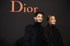 PARIS, FRANCE - JANUARY 21: Pierre Niney and Natacha Andrews attends the Dior Homme Menswear Fall/Winter 2017-2018 show as part of Paris Fashion Week on January 21, 2017 in Paris, France. (Photo by Francois Durand/Getty Images) *** Local Caption *** Pierre Niney; Natacha Andrews