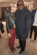 cara delevingne and edward enninful at BURBERRY on fashiondailymag