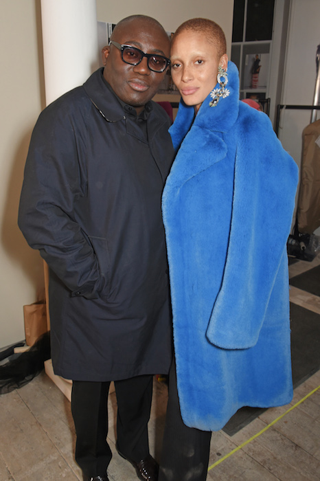 edward enninful and Edward Enninful AND Adwoa Aboah Burberry sept 2017 fashiondailymag