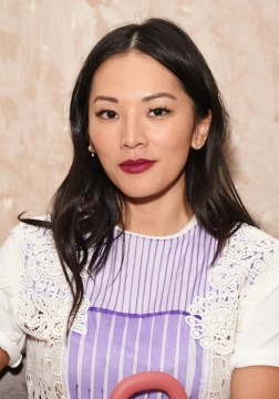 LONDON, ENGLAND - SEPTEMBER 16: Tina Leung wearing Burberry at the Burberry September 2017 at London Fashion Week at The Old Sessions House on September 16, 2017 in London, England. Pic Credit: Dave Benett