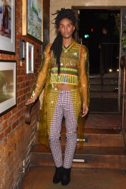 Ari Fitz, (wearing Burberry)