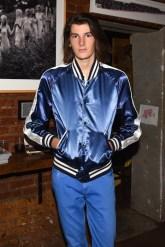 Dylan Brosnan, (wearing Burberry)