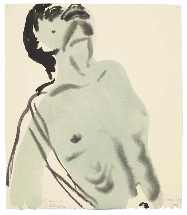 Marlene Dumas, Calvin Klein, 1994, watercolour and ink on paper, £12,000-18,000