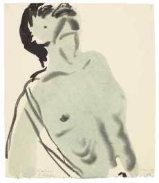 Marlene Dumas, Calvin Klein, 1994, watercolour and ink on paper, £12,000-18,000