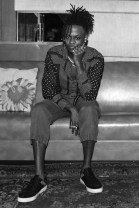 Myles O'Neal, (wearing Burberry)