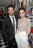 LOS ANGELES, CA - JANUARY 04: Jesse Metcalfe (L) and Cara Santana attend W Magazine's Celebration of its 'Best Performances' Portfolio and the Golden Globes with Audi, Dior, and Dom Perignon at Chateau Marmont on January 4, 2018 in Los Angeles, California. (Photo by Donato Sardella/Getty Images for W Magazine)