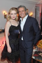 LOS ANGELES, CA - JANUARY 04: Kathryn Newton (L) and Carlos Souza attend W Magazine's Celebration of its 'Best Performances' Portfolio and the Golden Globes with Audi, Dior, and Dom Perignon at Chateau Marmont on January 4, 2018 in Los Angeles, California. (Photo by Donato Sardella/Getty Images for W Magazine)