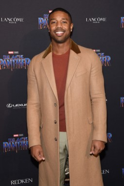 NEW YORK, NY - FEBRUARY 12: Michael B. Jordan attends the Marvel Studios Black Panther Welcome to Wakanda New York Fashion Week Showcase at Industria Studios on February 12, 2018 in New York City. (Photo by Jamie McCarthy/Getty Images for Marvel)