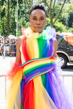 Billy Porter gets ready for WorldPride NYC 2019 on June 30, 2019 in New York City. (Photo by Santiago Felipe/Getty Images) fashiondailymag 7