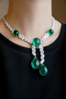 Colombian emerald and diamond necklace, Cartier - model - Magnificent Jewels and Noble Jewels Sotheby's Geneva 13 nov 2019