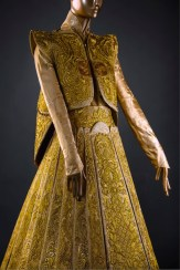 Lot 15 Guo Pei, Gold Chinese Traditional Bridal Dress, Pure gold embroidery thread, leather, European imported fabric (est. £500,000-700,000) (7) on FashionDailyMag Brigitteseguracurator at 9.59.54 AM