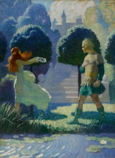 10151 Lot 7, N.C. Wyeth, Ogier and MorganaSOTHEBYS NOV 2019 ph sothebys FashionDailyMag fashion brigitteseguracurator