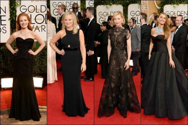 Golden Globes 2014 Red Carpet Fashion Black Dresses
