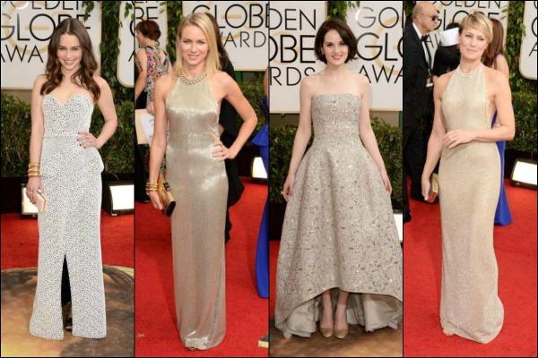 Golden Globes 2014 Red Carpet Fashion Gold