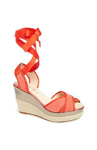 """The """"Leslie"""" wedge in coral ("""