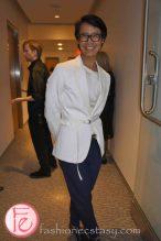 wearing: John Galliano