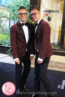Dean and Dan Caten (DSQUARED²) @ M.A.C VIVA Glam Fashion Cares 25 Red Carpet