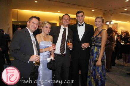 2012 Brazilian Carnival Ball wearing: (Left to Right) Calvin Klein, unknown, Rocco's Italian Mens Wear, Moores, BCBG