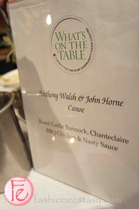 Roast garlic bannock, chanteclaire BBQ chicken & nasty sauce by Anthony Walsh & John Horne, Canoe @ 2012 What's On The Table