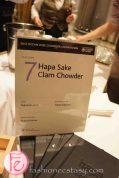 Hapa sake clam chowder by Takayuki Sato, Hapa Izakaya (paired with Rickard's Blonde) - 2012 Ocean Wise Chowder Chowdown Toronto