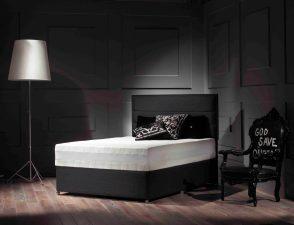 Octaspring TIFFANY Bedbase with MILANO headboard v1